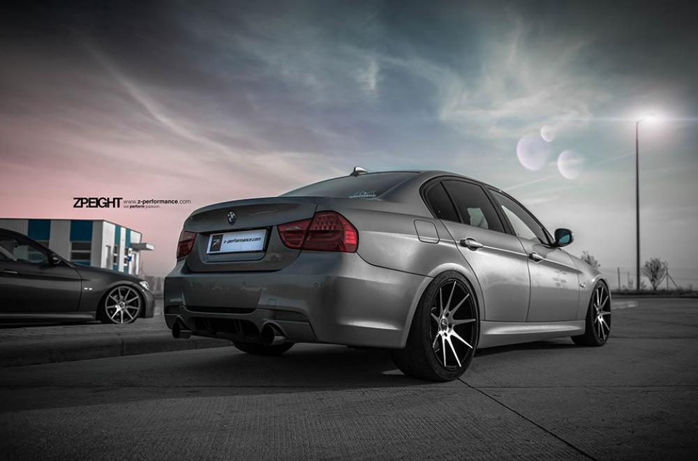 A Zperformance Zp 08 Deep Concave Matte Gunmetal With Polished